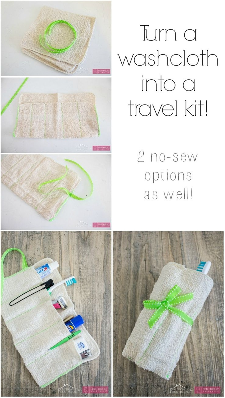 A simple sewing project to organize your bathroom items.