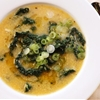 Hearty Vegan Polenta and Kale Soup With Miso and Toasted Sesame Oil