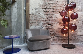 Glass Globe Floor Lamp by Cappellini - Meltdown