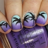 Sunset palm tree nail art - check out the blog post here!
