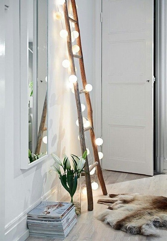 Pretty Way to Use String Lights