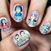 "I don't really know how to explain my thought process behind these nails- I just love Bob's Burgers and I have a sticker with Tina with the word ""butts"" on my laptop so I thought it would be funny to..."