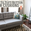 How to tuft/button your cushions