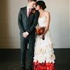 Modern Orange and Black Wedding Inspiration