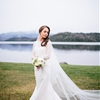 Sophisticated Lake Placid Wedding with a Peplum Gown