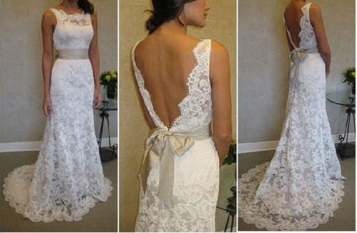 Super elegant French Lace Wedding Dress by Sash by SashCouture1,
