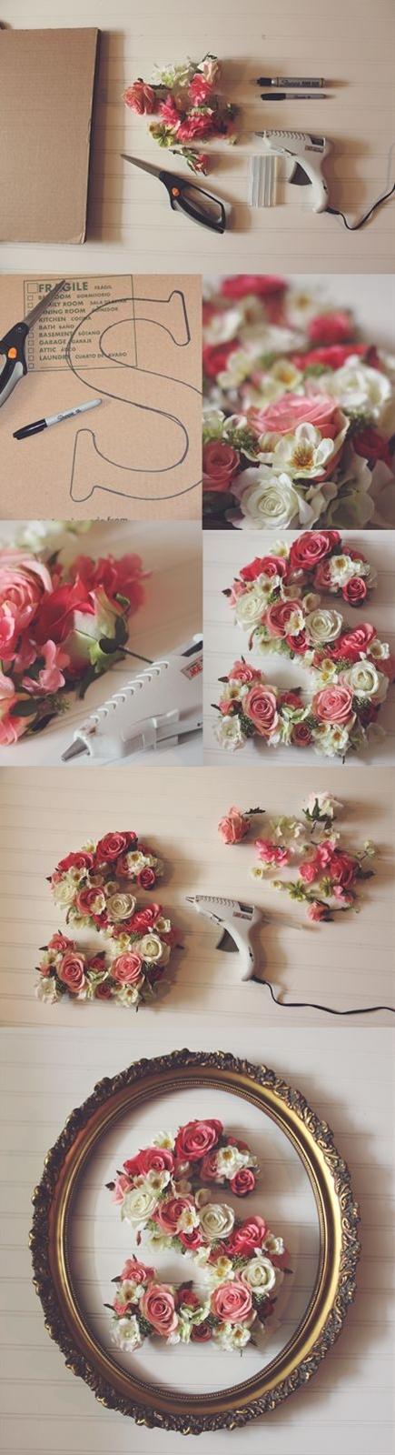 DIY Flower Monogram | Perfect wedding monogram idea!