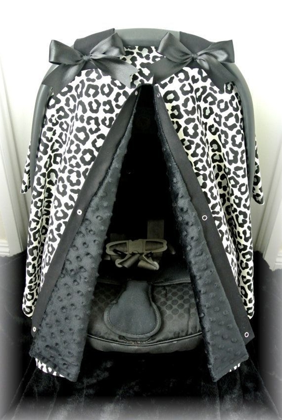 cheetah car seat cover, nice touch