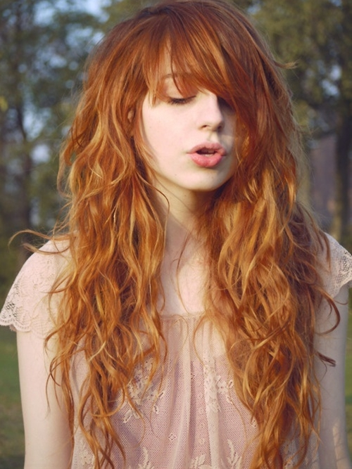 Long copper hair
