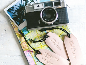 DIY WANDERLUST INSPIRED LEATHER LUGGAGE TAGS