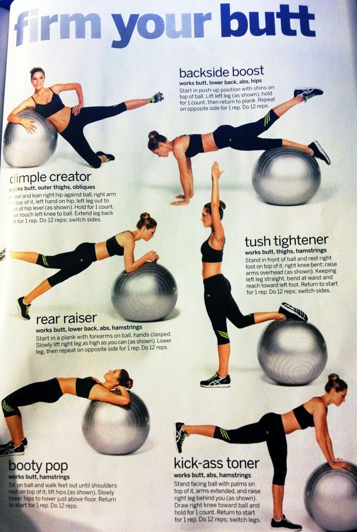balance ball workout :: from A work in progress