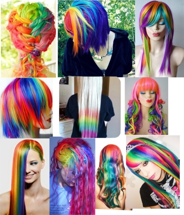 """rainbow hair"" by princessahanners liked on Polyvore"