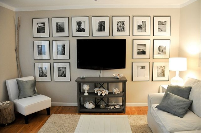 Someday when our tv dies and we buy a flatscreen to mount on the wall, I want to do this.
