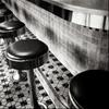 Diner stools. by stephenpine (stephenpine.tumblr.com)