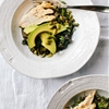 Roasted Broccoli Rabe with Lemon Vinaigrette and Grilled Chicken