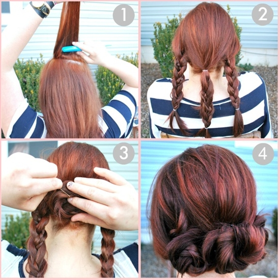 cute summer updo for long hair