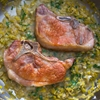 Pork Chops With White Wine and Leek Pan Sauce