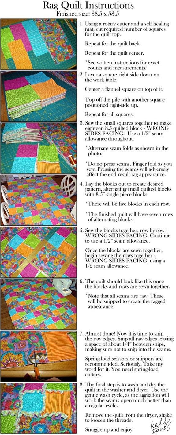 DIY rag quilt instructions
