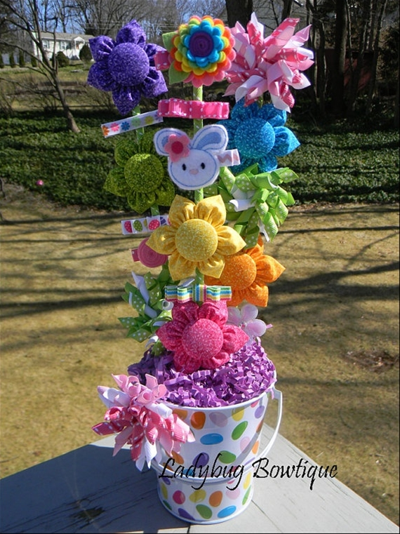 Girls Hair Bow and Clip Bouquet
