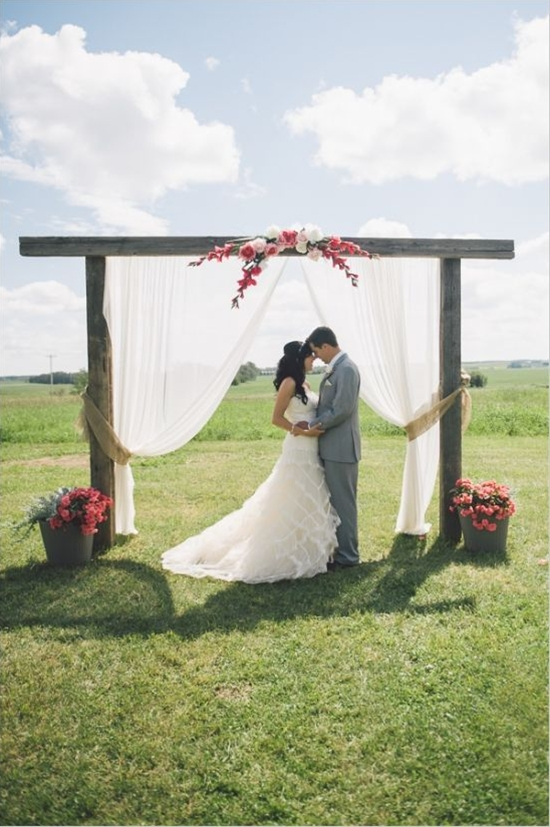 Family Farm Wedding in Pink and Gray at Josephburg Hall, photographed by Kristilee Parish Photography.
