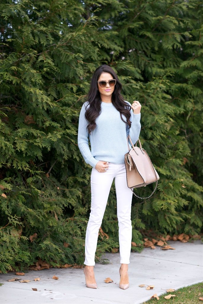 This season, spring is all about light and airy colors and these white J.Brand skinnies from Nordstrom are the perfect addition...