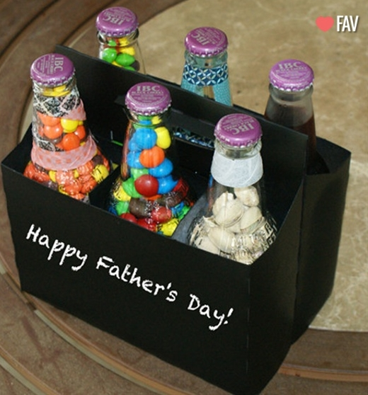diy father's day craft or you could personalize for any birthday or holiday!! Love this idea!!