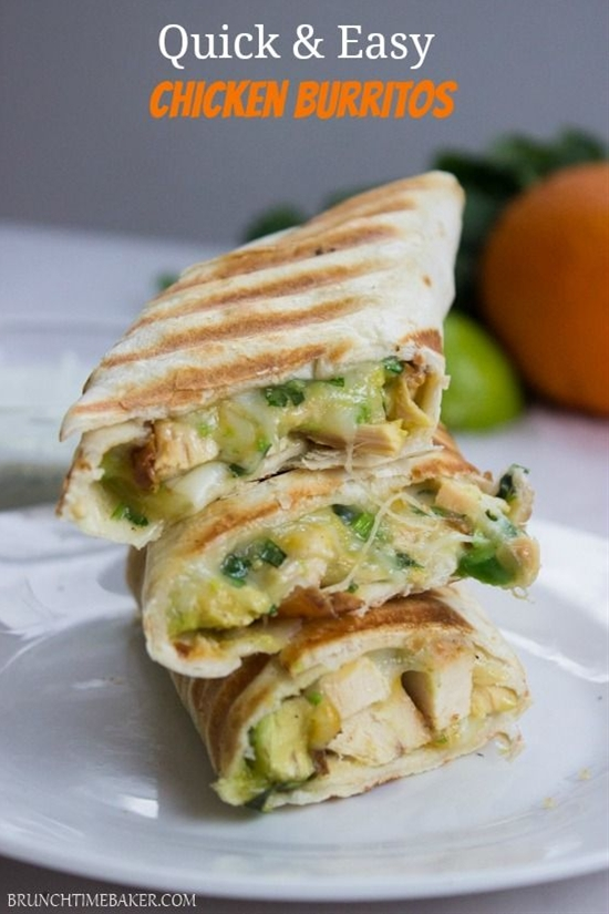 INGREDIENTS: 2 cups cooked shredded chicken, ½ cup Mexican cheese blend ( or mozzarella), 1 avocado diced, 2 tablespoons cilantro chopped, 4 large tortillas, 1 tablespoon oil.