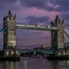 London Tower Bridge at SunsetD700 + Nikon 28-300 at 1/8 sec;...