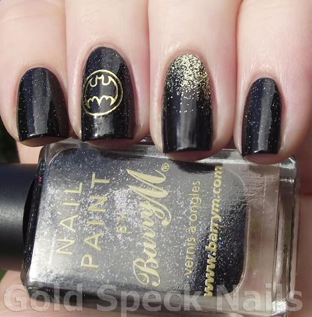 Gold Speck Nails: Batman Nails