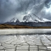 Torres del Paine, Chile | March 8, 2015A dry lake bed rests at...