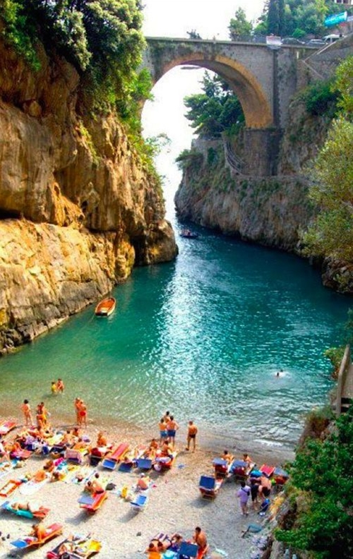 If you have an urge to travel to Italy for your honeymoon, make sure to pass through the Amalfi Coast. It's actually so beautiful that some honeymooners make it their one and only destination. You'll find pristine Italian beaches (like this secluded beach in Furore) and some of the best pasta dishes you've ever had. Santa Caterina is rumored to be of the best hotels for a romantic getaway.