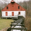 """another red barn""""a slightly different rendition of a red..."