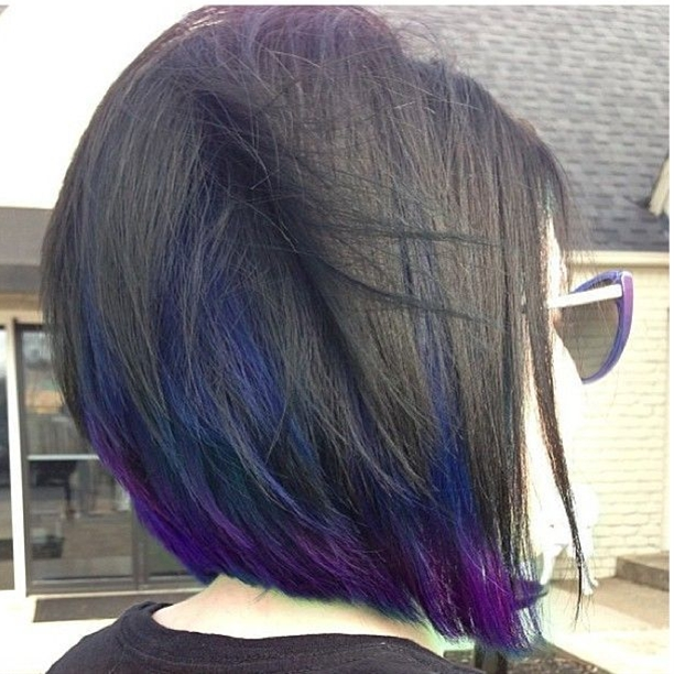 I want my hair cut and colored exactly like this, except with just purple underneath.\n\n