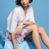 Lily Collins is Ready for Spring in Barrie Knitwear Ads