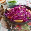 Red Cabbage Apple Salad with Blue Cheese