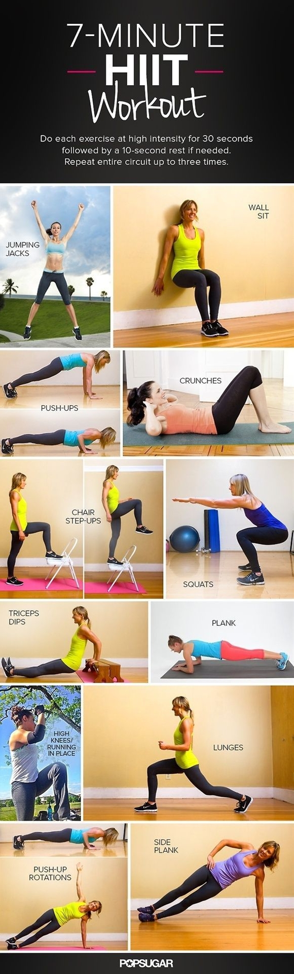 Seven minutes for a workout — who doesn't have time for that? That's why we've been loving this quick circuit workout from the American College of Sports Medicine, which burns major calories in a short amount of time.