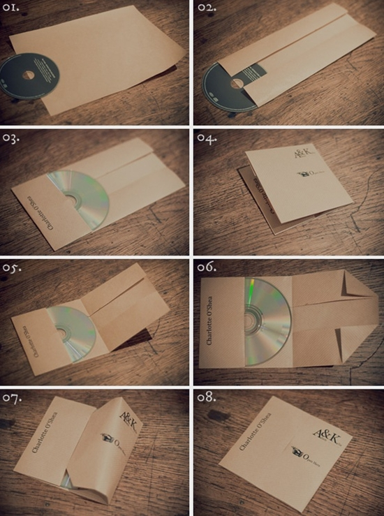 DIY folded CD cases.