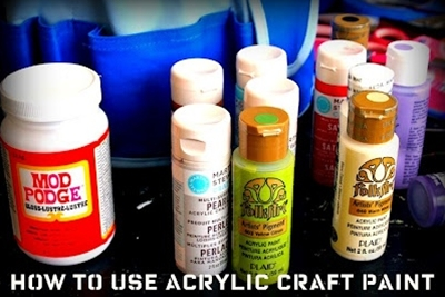 Tips for using acrylic paint.