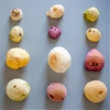 Omer Polak and Michal Evyatar blow dough into balloons to create colourful snacks