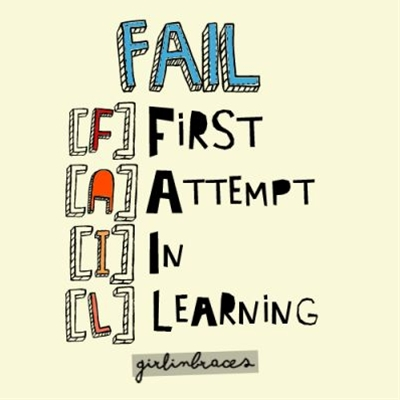 you cant success unless you have failed several times, or will not call it success