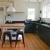A Hamptons Kitchen with a Custom Island—Sourced on Etsy