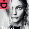 Sasha Pivovarova Poses on Black & White i-D Cover