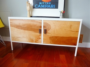 From IKEA PS Locker Cabinet to upscale Mid-Century credenza