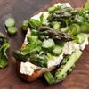 Asparagus Tartine With Ricotta and Mint
