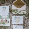 Eclectic Chic Peach and Gold Wedding