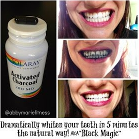 Whiten Your Teeth in 5 Minutes with Activated Charcoal AKA BLACK MAGIC