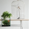 Maxime Mellot's Turia table includes a birdcage, fish tank and plant pot
