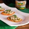 Mediterranean Tuna Hummus Crostini + Basket Giveaway