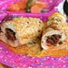Chorizo-Stuffed Chicken Breasts With Queso Sauce