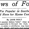 Today in Fat News: Newspaper reveals the moment mainstream America first heard about pizza.